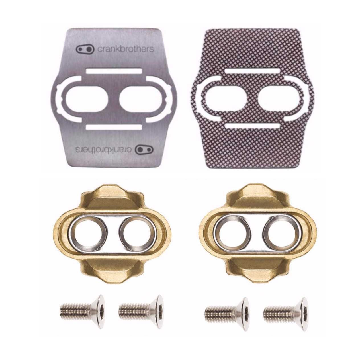 Crank Brothers Premium Cleats and Bike Shoe Shields MTB Pair: for Eggbeater, Candy, Smarty, Mallet Pedals Etc.