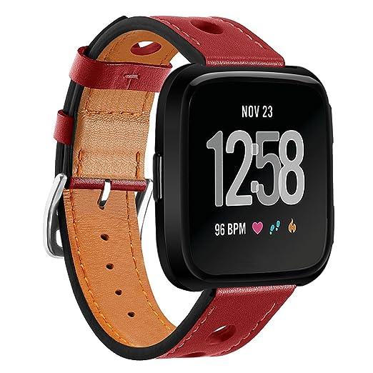 Timsic para Fitbit Versa, Correa de Piel de Lujo, Accesorios para Reloj Inteligente, Banda de Reloj para Mujeres, Hombres: Amazon.es: Relojes