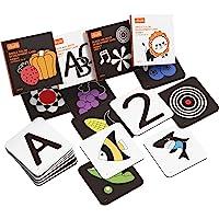 Upgraded 2020 TUMAMA Baby Black White Flash Cards, High Contrast Visual Stimulation Learning Flashcards, Learning…