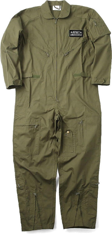 Military Uniform Flight Suit空軍スタイルFighter Coverallsジャンプスーツ+パッチ オリーブドラブ 3X-Large