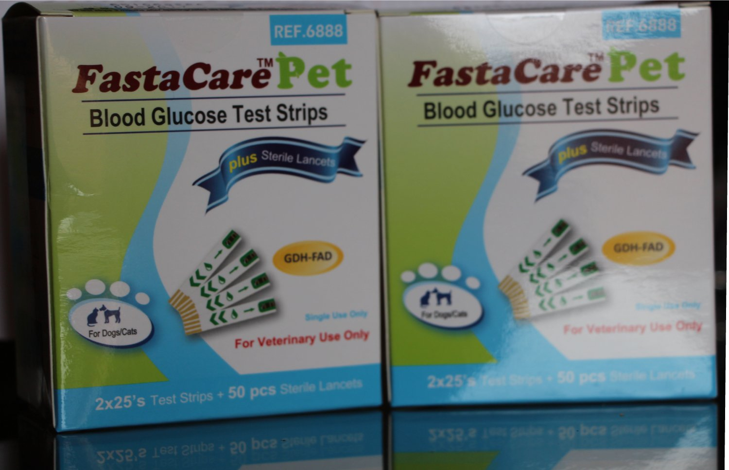 2 Packs of FastaCare Pet - Blood Glucose Test Strips + Lancets (2 x50's) FastaCare Therapeutics Inc.