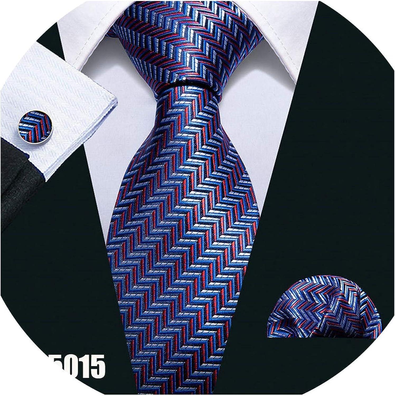 Tie Pocket Square Cufflinks Red Black Polka Dot Set Hanky 100/% Silk Wedding