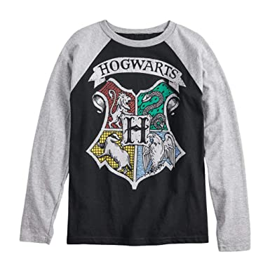 11daab04be9 Amazon.com  Harry Potter Hogwarts Crest Boys Girls Long Sleeve Shirt ...