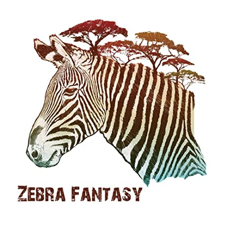 Winhappyhome 3D Lifelike Zebra Wall Art Stickers For Bedroom Living Room  Nursery Background Removable Decor Decals