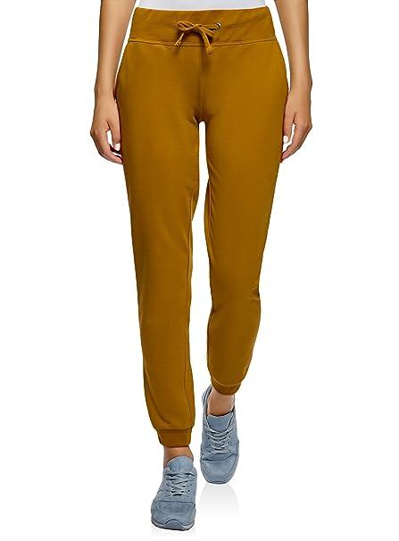 oodji Ultra Mujer Pantalones de Punto Deportivos  Amazon.es  Ropa y  accesorios 899dbcec8323