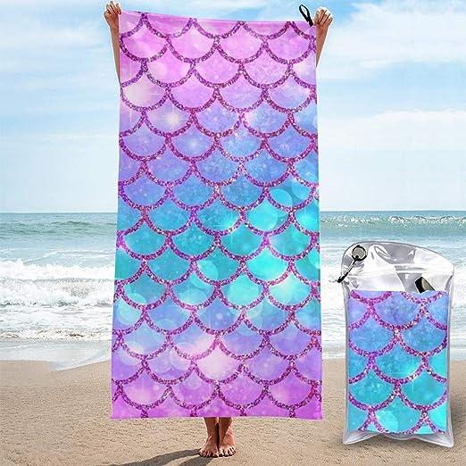YUYUTE Toallas de Playa para Mujeres Hombres Blanket Space ...