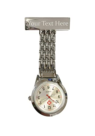 82fa9bafa Personalised Engraved Nurse Carer Fob Watches Brooch Custom Gift Box Gold  Silver Black Rose Gold (