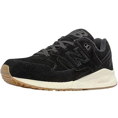wholesale dealer 40dab d6be3 New Balance 530 Lux Suede Casual Men's Shoes Size 8 Black/White