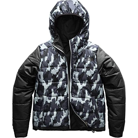 b892cf85cdea THE NORTH FACE Girls Reversible Perrito Jacket - TNF Black - XXS   Amazon.co.uk  Clothing