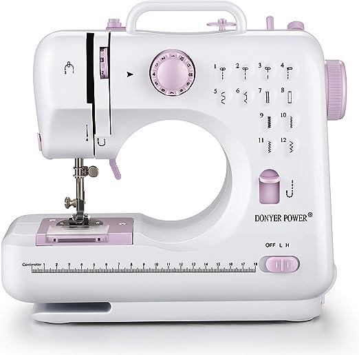 DONYER POWER máquina de coser eléctrica portátil Mini con 12 ...