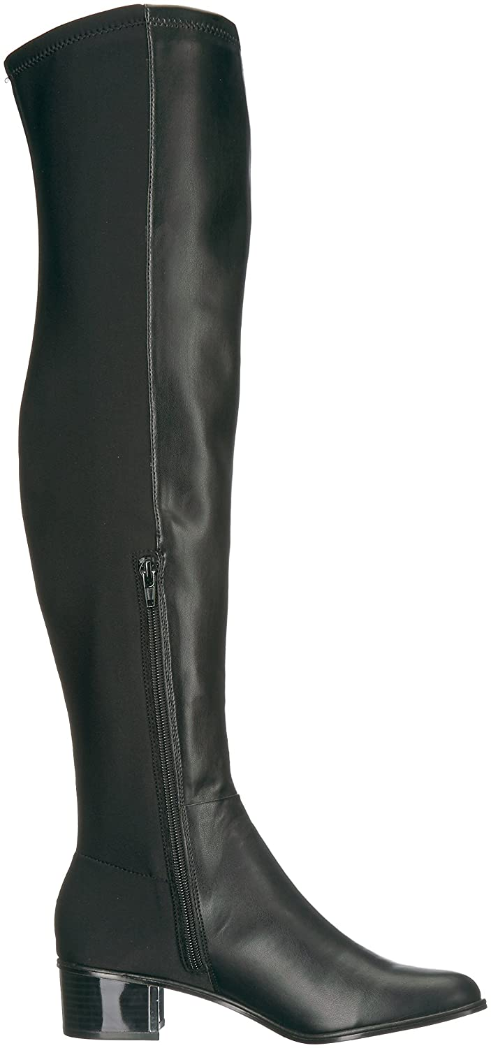 Calvin Klein Women's Carney Over The Knee Boot B073WMYR9S 7 B(M) US|Black Stretch