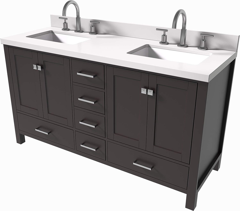 36 Wide x 21 Deep New White Shaker Single-Sink Bathroom Vanity Base Cabinet NWS-V3621