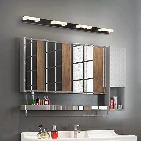 BiuTeFang LED Lámpara de Espejo Iluminación LED con vitrinas estanca antiniebla con lámparas de Pared para baño con luz de Espejo para baño Moderna con focos de Espejo 81CM 10W: Amazon.es: Hogar