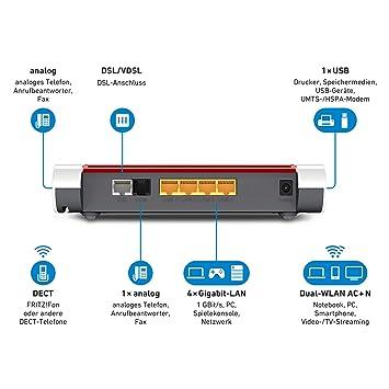 AVM Fritz Box 7530 High-End WLAN AC+N Router geeignet für Deutschland