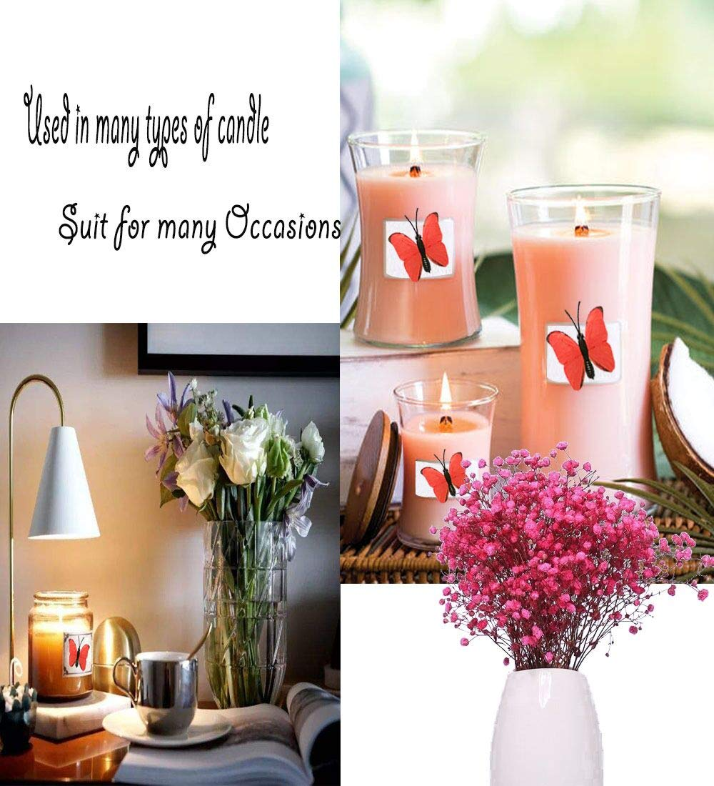 13013 mm Wood Wick with Metal Base Candle DIY 20 Set Wooden Wick with Anchor for DIY Candle Making 40 Piece Large Natural 5