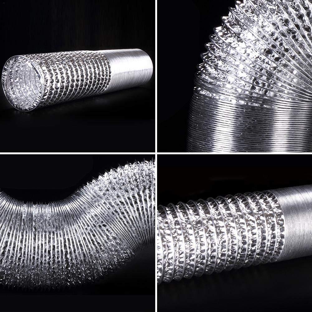 Durchmesser:100//110//150//160//200//250mm greatdaily Aluminium Flexibel Schlauch Single Schicht Foli Verdicktes Rohr Retractable Mehrzweck Auspuffrohr Teleskop Schlauch Verdickter L/änge:6m