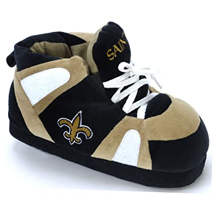 dd98a5ddb40c Amazon.com  Comfy Feet NFL Sneaker Boot Slippers - New Orleans Saints   Sports   Outdoors