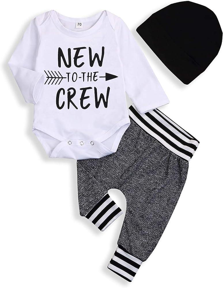 Autumn Baby boy Girl Clothes Long Sleeve Rompers Shirts+Jeans Baby Boys Clothes Baby Clothing Set