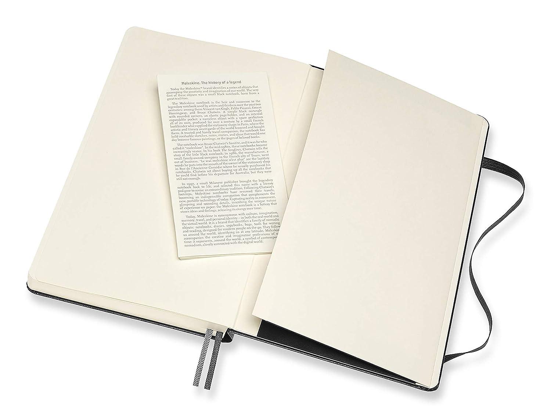 Notebook Classic Expanded Pagina Bianca Colore Nero Taccuino Copertina Rigida e Chiusura ad Elastico Moleskine 400 Pagine Dimensione Large 13 x 21 cm