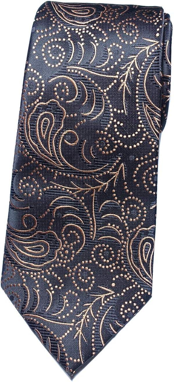 Towergem Extra Lungo Cravatta Microfibre Floreale Tessuto Jacquard XL Cravatta 63