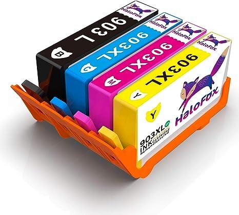 HaloFox 4 Cartuchos de Tinta 903XL para HP OfficeJet Pro 6960 6970 ...