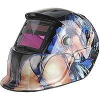 Masque?de?soudure? - SODIAL(R)Masque de Soudure Cagoule Casque Soudage Solaire Automatique (Utiliser Energie Solaire pour Recharge) Protection de Visage (Belle Fille )