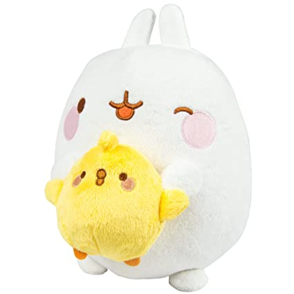 TOMY Molang Talk and Sing Plush Figure Molang & Piu Piu 25 cm Peluches