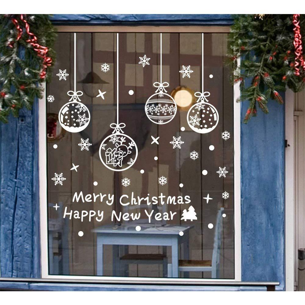 Tenrany Home Schneeflocken Fenster Aufkleber Weihnachten Fensterdeko ...