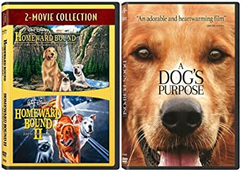 Dog Movie Triple Feature Collection Homeward Bound 1 2 A Dog S Purpose Amazon Co Uk Dvd Blu Ray