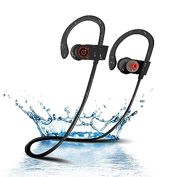 Auriculares Bluetooth, BELLESTYLE Auriculares inalámbricos Deportivos 4.1 Auriculares con micrófono Incorporado, Deportes Manos Libres y cancelación de ...