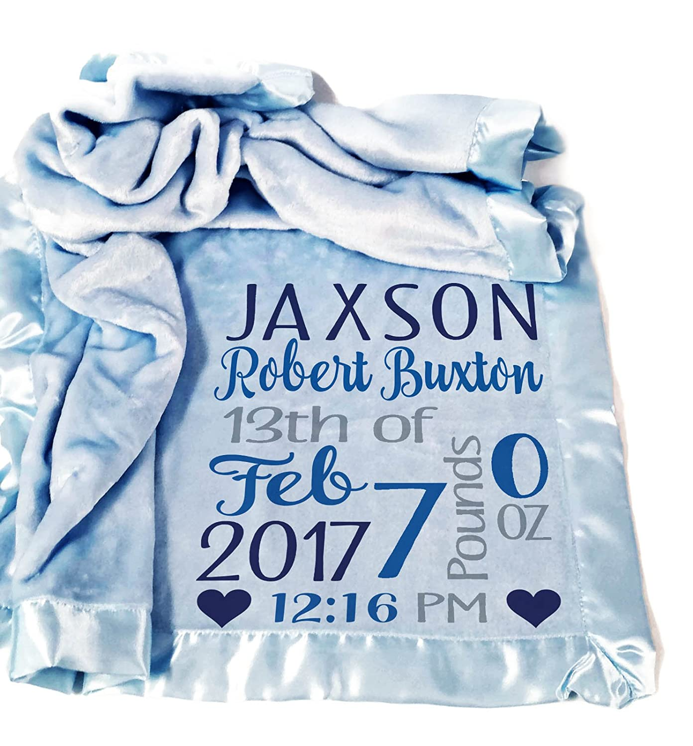42df1383c Personalized Baby Blankets /( 30x40, Pink Micro Plush Fleece with Satin  Edge/) for Girls Custom ...