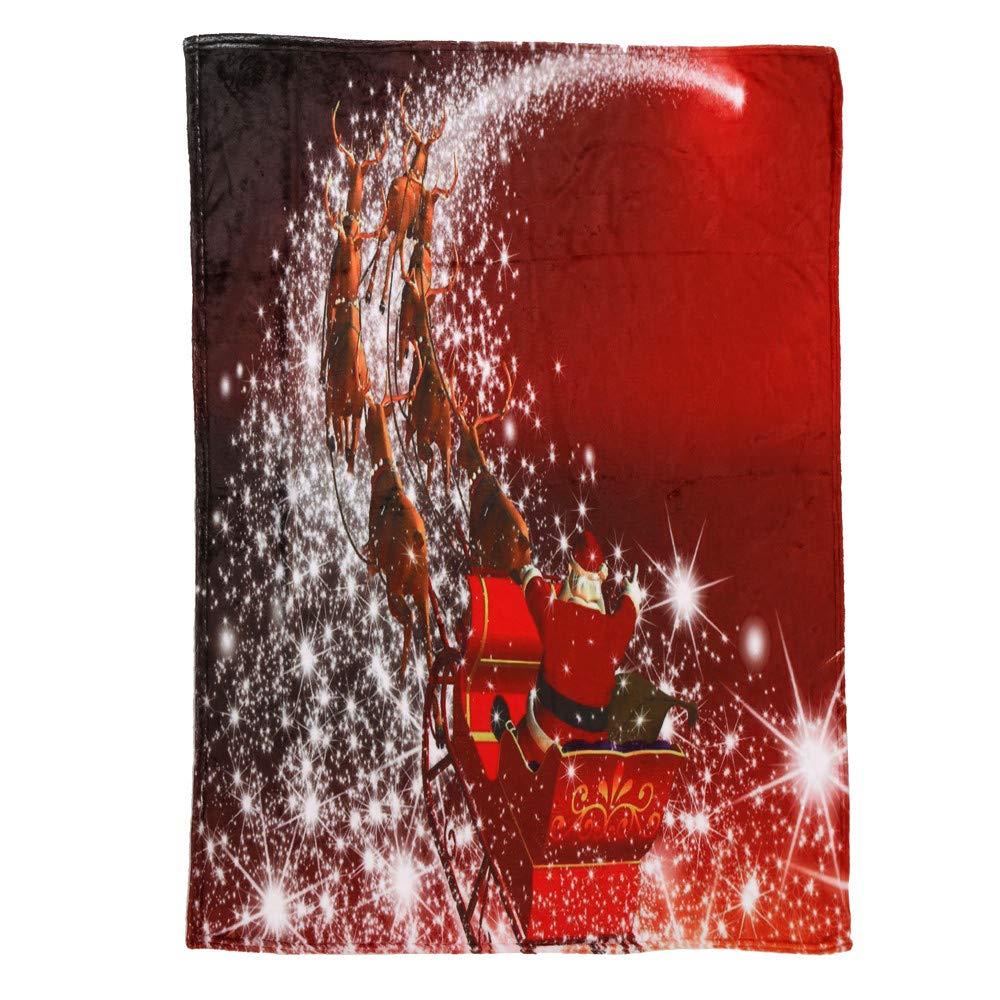Kanhan クリスマスブランケット フランネル 超暖か ソフトベッドブランケット サンタパターン カーペットシーツ キルトカバー One size B07L2MPPP5 G