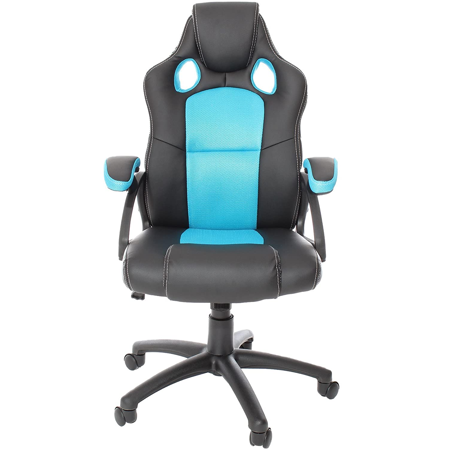 Charles Jacobs Executive Racing Style Gaming Chair Luxury Office High Back Support With Tilt Lock Mechanism