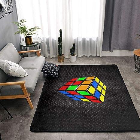 Amazon.com : YOUNG H0ME Colorful Cube Rubik Black Kitchen ...