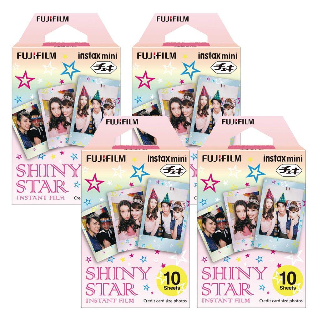 Fujifilm Instax Shiny Star Instant Film 4 Pack For Mini 8 Cameras 40 Sheets