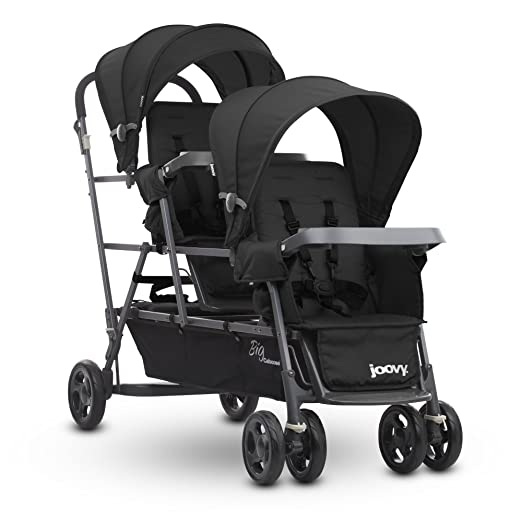 Joovy Big Caboose Graphite Stand On Triple Stroller, Black