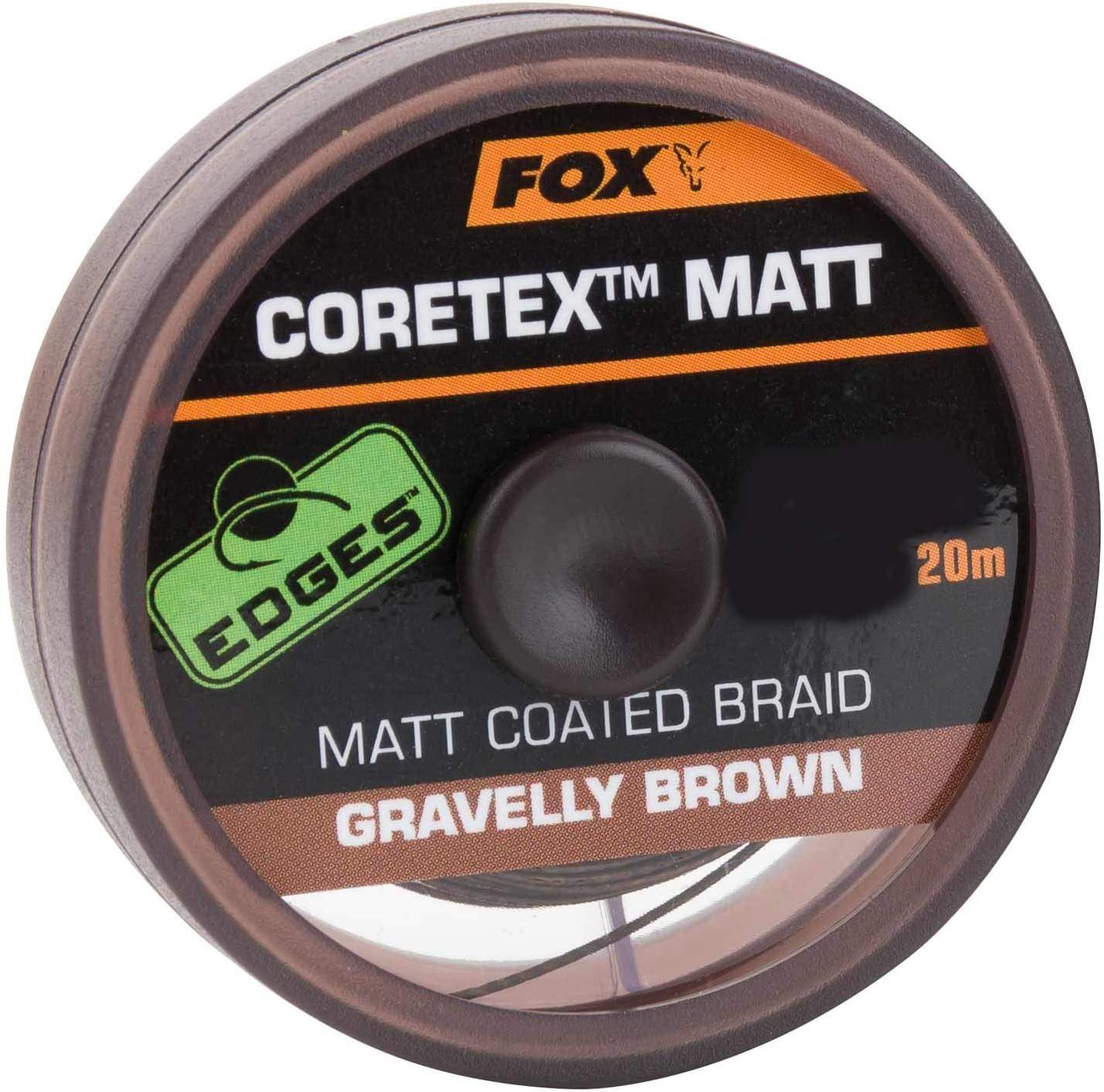 Tragkraft:35lbs//15.9kg FOX Edge Matt Coretex 20m Vorfachschnur Farbe:Braun