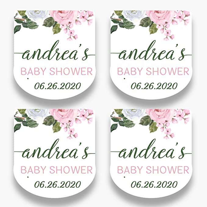 Shower Favor Tags Hand Sanitizer Favor Tags Flower Tags Baby Shower Favor Tags Shabby Chic Favor Tags Custom Favor Tags Thank You Tags