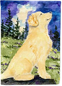 Caroline's Treasures SS8977GF Golden Retriever Flag Garden Size, Small, Multicolor