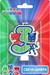 Сandle on a Cake Topper 3 Years PJ MASKS Owlette Catboy Must Have Accessories for the