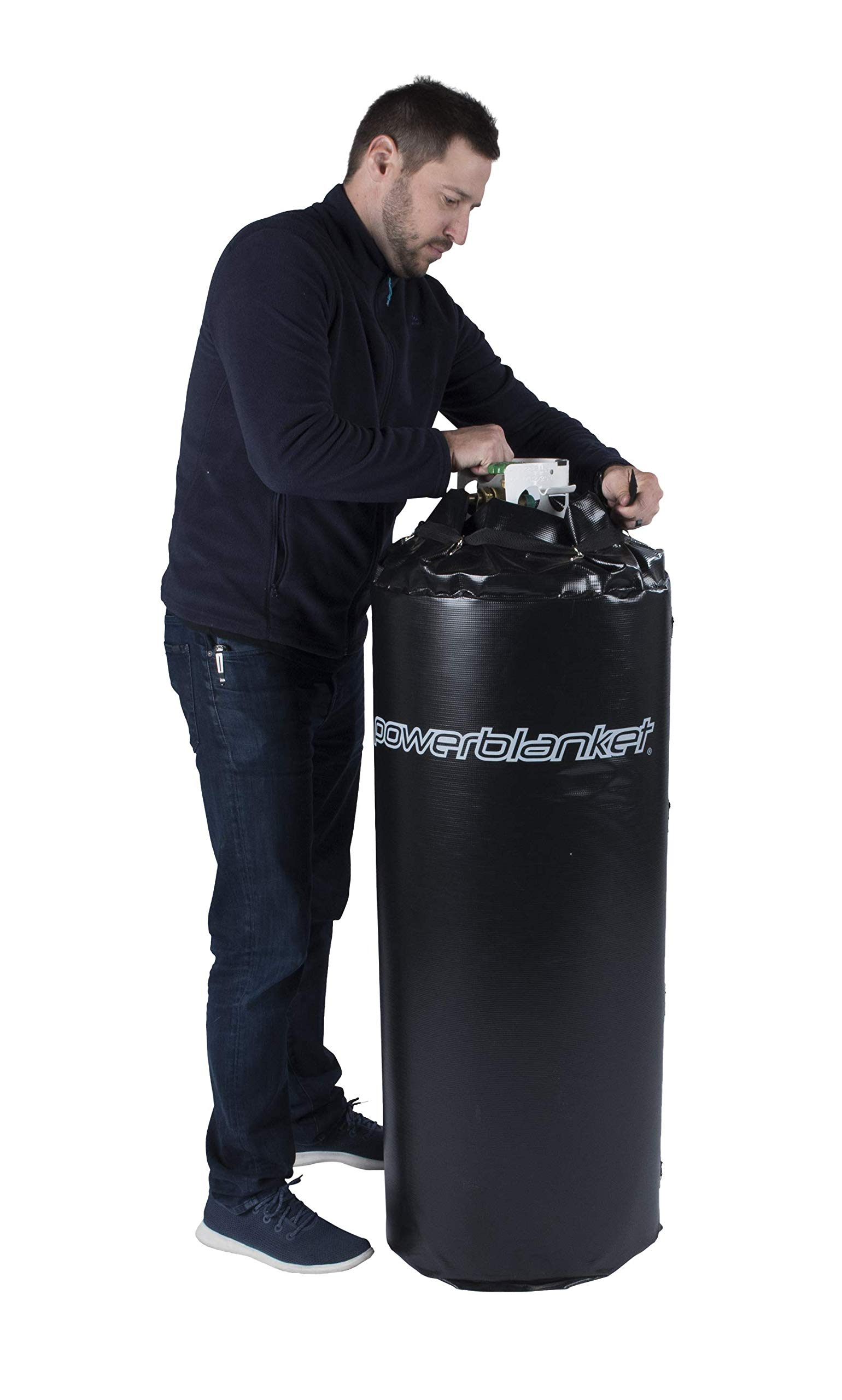 Powerblanket FCW60 Foam Cylinder Heater Designed to Fit 60 Gallon Tank, 24'' D x 34'' H, 90°F (Previous Part # FCW2428C)
