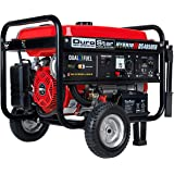 Durostar DS4850EH Dual Fuel Portable Generator-4850 Watt Gas or Propane Powered Electric Start-Camping & RV Ready, 50 State A