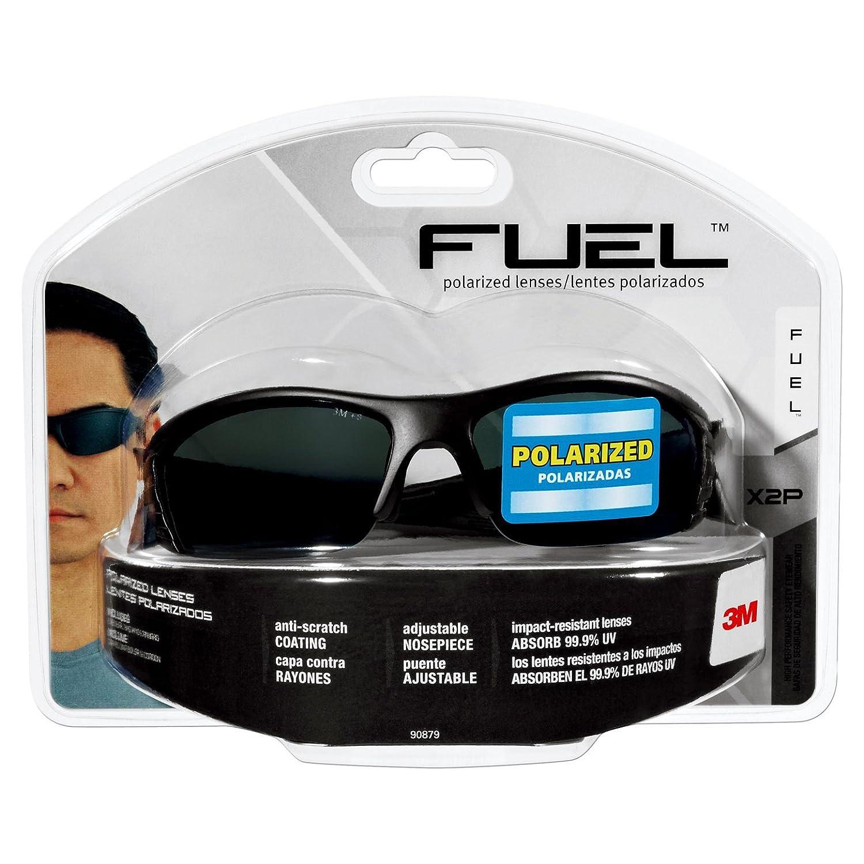 3M 90879-80025 Fuel X2P Safety Glass with Black Frame and Grey Polarized Lens 141[並行輸入]  B002SXMKJ6