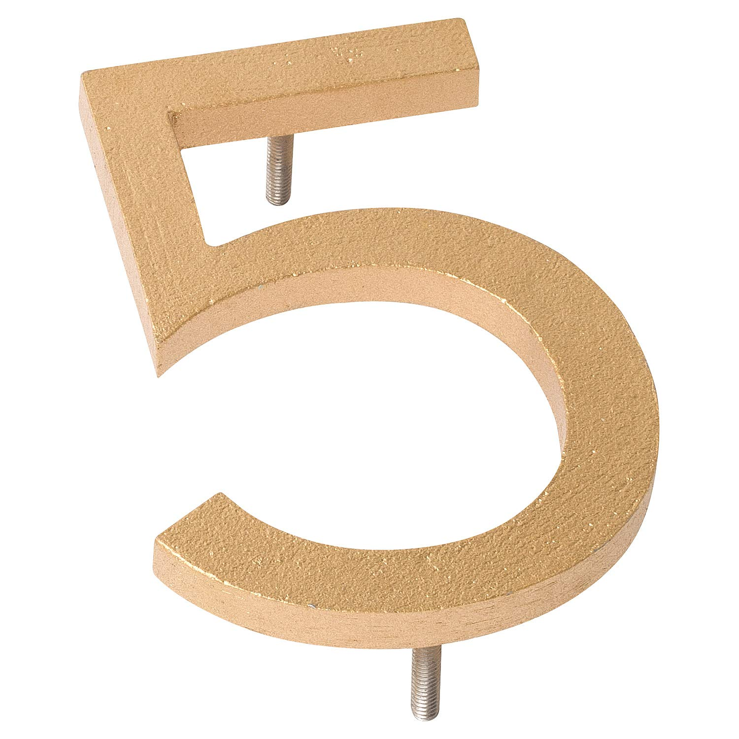 Montague Metal Products MHN-06-7-F-BK1 Floating House Number 6 x 4.31 x 0.31 Black