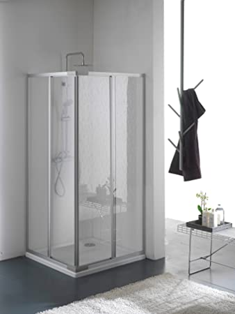 Duschabtrennung schiebetür kunststoff  Duschabtrennung, Duschkabine, Größe: 80 x 80 cm, H 185 cm, aus ...