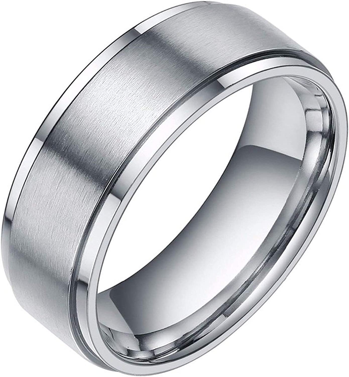 9MM Tungsten Carbide Men's Wedding Band Ring in Comfort Fit and Matte Finish