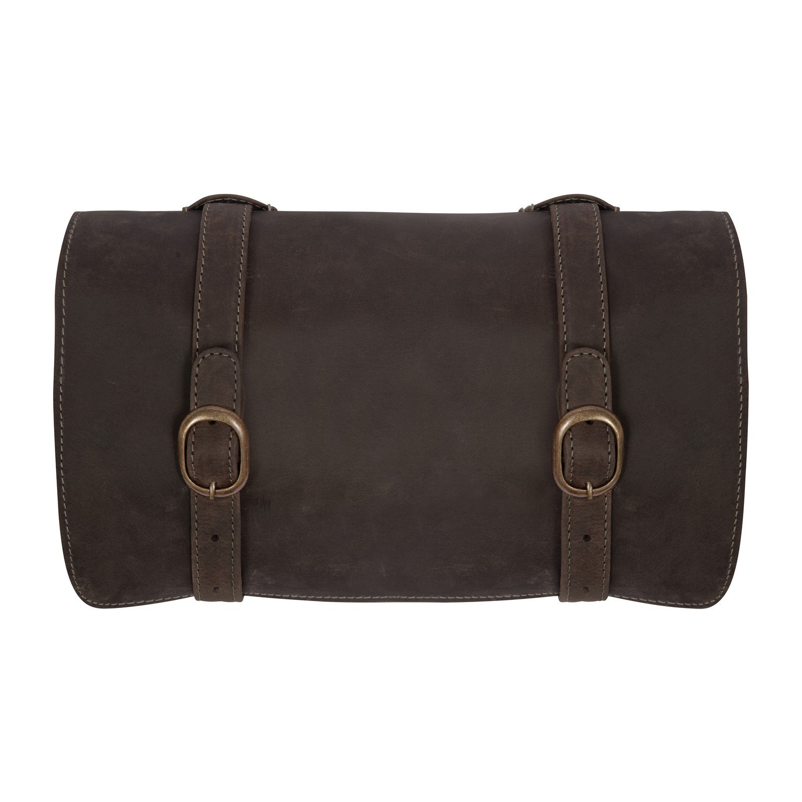Canyon Outback Buffalo Mountain Hanging Leather Toiletry Bag, Distressed Brown, One Size