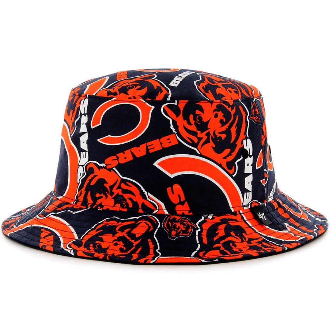 Amazon.com    47 Chicago Bears Bravado Printed All Over Bucket Hat - NFL  Gilligan Fishing Cap   Sports   Outdoors 2cf4ef5259a9