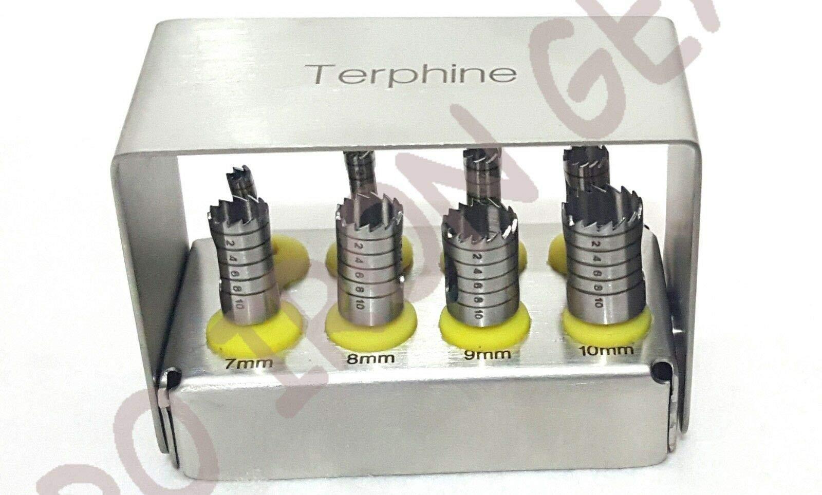 8 Pcs Trephine Drills Kit with Bur Holder