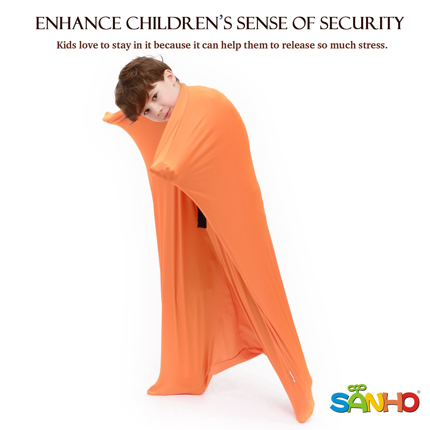 Sanho Yopo Dynamic Movement Sensory Sox, Medium,6-9 years old, 47''LX27''W Orange by Sanho Yopo (Image #6)